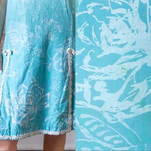 Vintage Dresses - SALE 1960s/EARLY 1970s VINTAGE AQUA SHIFT DRESS